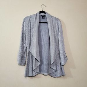 Peck & Peck Black Gray Cardigan Sweater Small